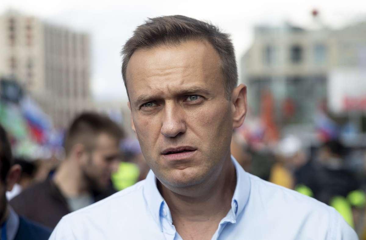 Alexej Nawalny 2019 bei einer Demonstration Foto: picture alliance/dpa/Pavel Golovkin
