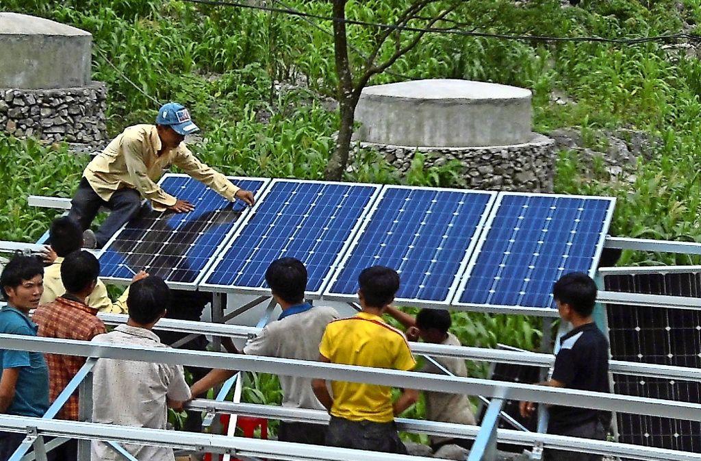Eine Solaranlage wie in Ca Lo (Foto) möchte Peter Althoff nun auch im Nachbardorf Ho Lu bauen. Foto: privat