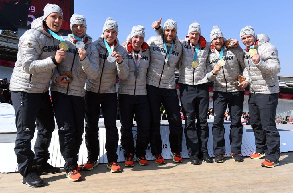 Bemerkenswerter Triumph für die deutschen Bob-Piloten bei Olympia 2018 Foto: dpa