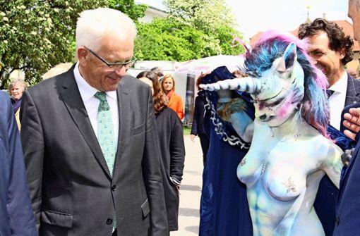 Linke kritisieren Einhorn-Auftritt als sexistisch