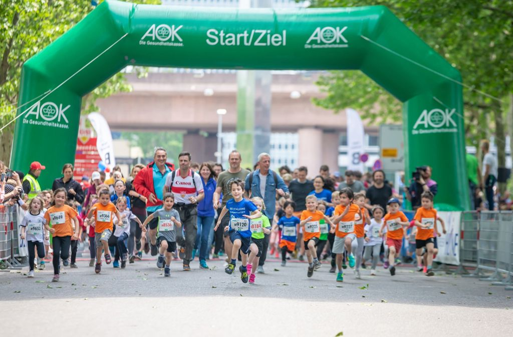 Beim Jolinchen-Lauf sind die Jüngsten auf der Straße. Foto: Lichtgut/Julian Rettig