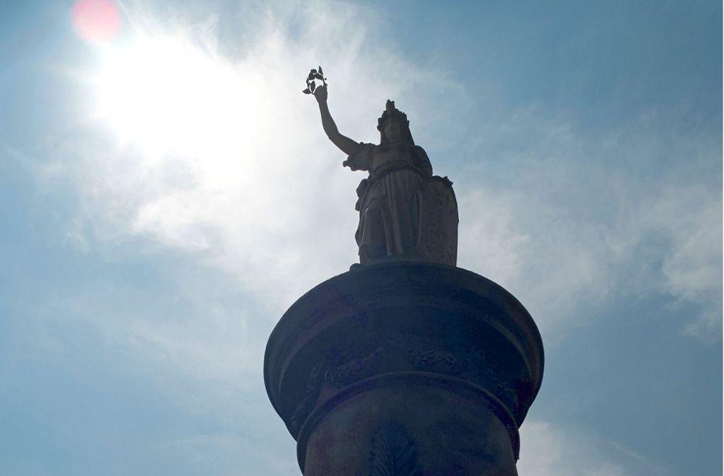 Kriegerdenkmal in Königgrätz, heute  Hradec Kralove   – dort fängt das Schlamassel an. Foto: dpa