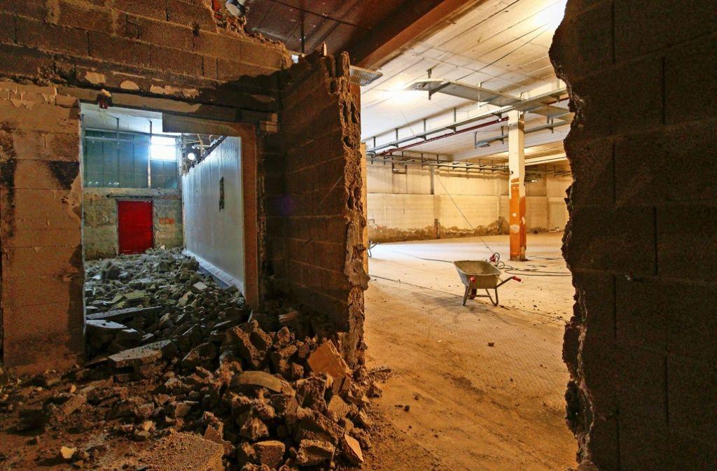 Die Bauarbeiten im künftigen Edeka-Markt in Kallenberg haben begonnen. Foto: factum/Granville
