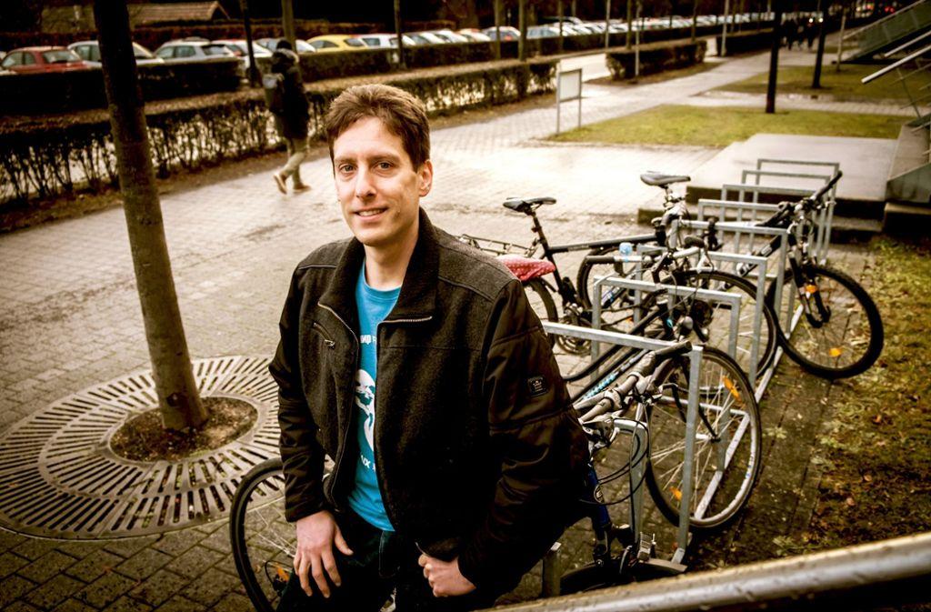 Volker Schmid soll die Radkultur an der Uni Hohenheim voranbringen. Foto: Lichtgut/Achim Zweygarth