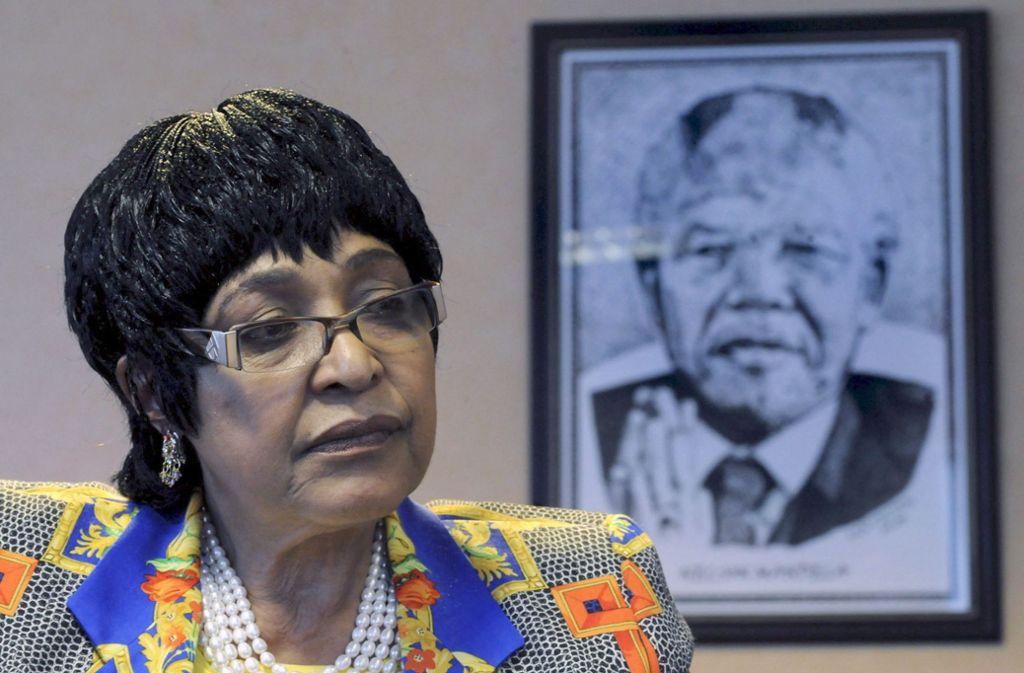 Winnie Mandela. Ex-Frau von Nelson Mandela, ist gestorben. Foto: EPA_FILE