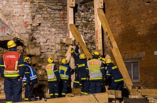 Stadtmauer durch Großeinsatz gerettet