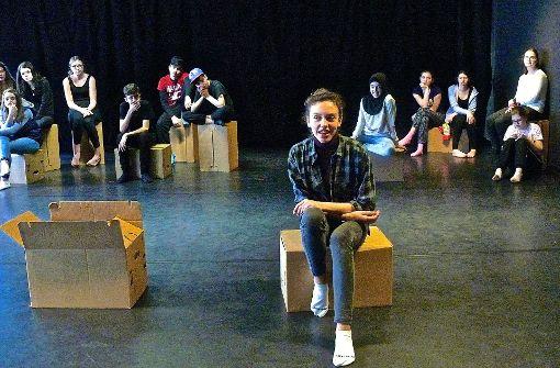 """Wie hier bei den Proben zu """"Living in a Box"""" legen Werkrealschulen großen Wert auf individuelle Förderung und die Zusammenarbeit mit anderen Schulen. Foto: Petra Mostbacher-Dix"""