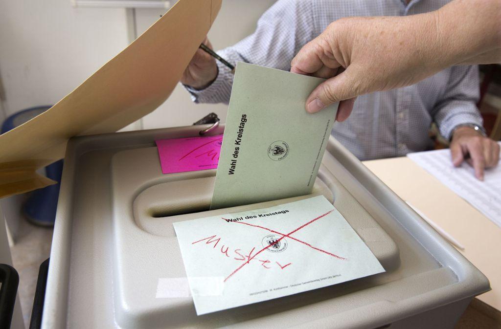 Die Kreistagswahl in Esslingen ist entschieden. Nicht alle Hoffnungen haben sich erfüllt. Foto: Pressefoto Horst Rudel