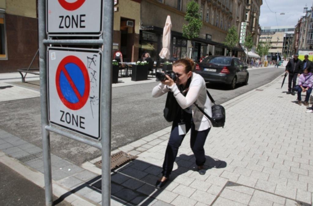 Straßenschilder als Fotomotiv? Beim Fotomarathon war das kein ungewöhnliches Bild. Foto: Anna Lammers
