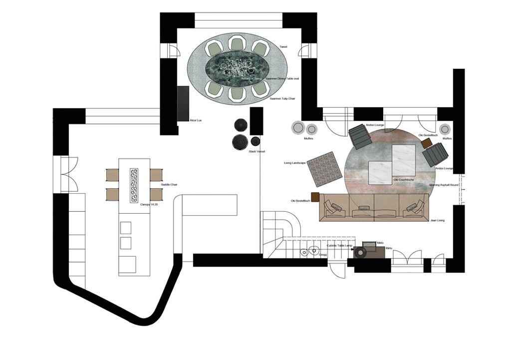 Zuvor präsentierten die Einrichtungsprofis ein detailliertes Gesamtkonzept für den Innenbereich und ... Foto: architare