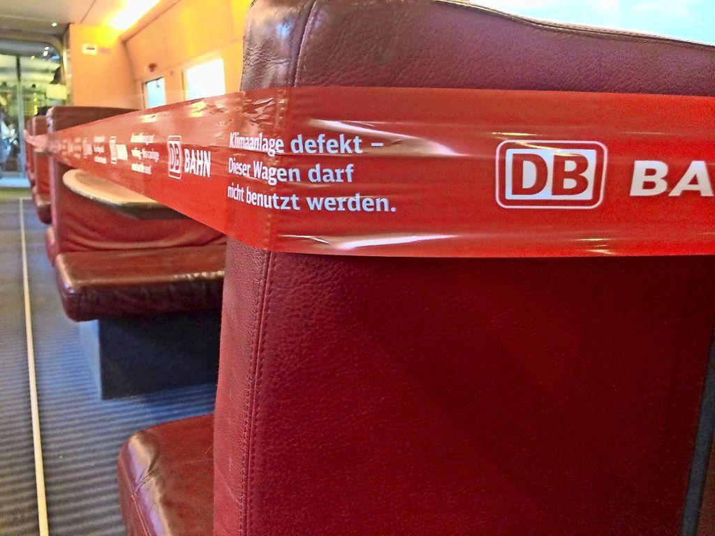 Defekte Züge sind ein Ärgernis bei der Deutschen Bahn. Foto: dpa