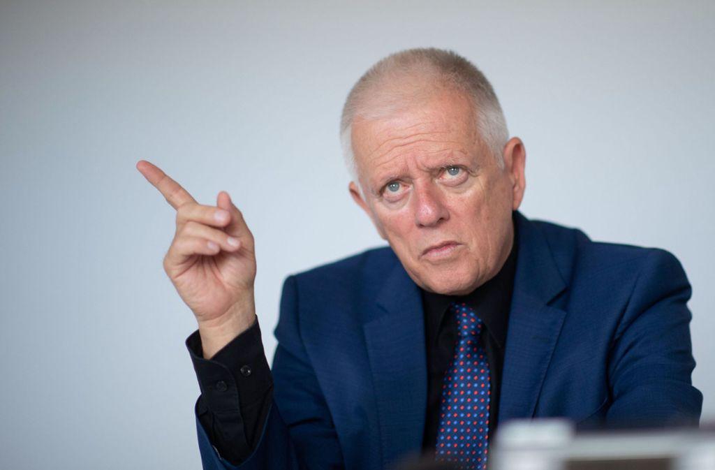 Fritz Kuhn (Bündnis 90/Die Grünen), Oberbürgermeister von Stuttgart, spricht über das Image der Stadt. Foto: dpa/Marijan Murat