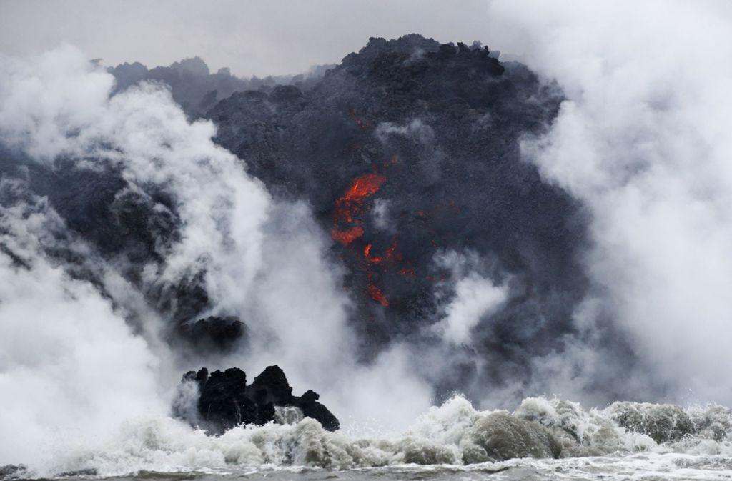 Die Eruptionen des Vulkans Kilauea auf der Big Island nehmen kein Ende. Foto: AP