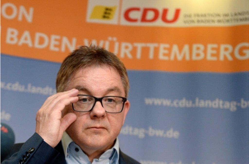 Guido Wolf sieht sich als Verhandlungsführer – Teile der CDU zeigen sich irritiert Foto: dpa