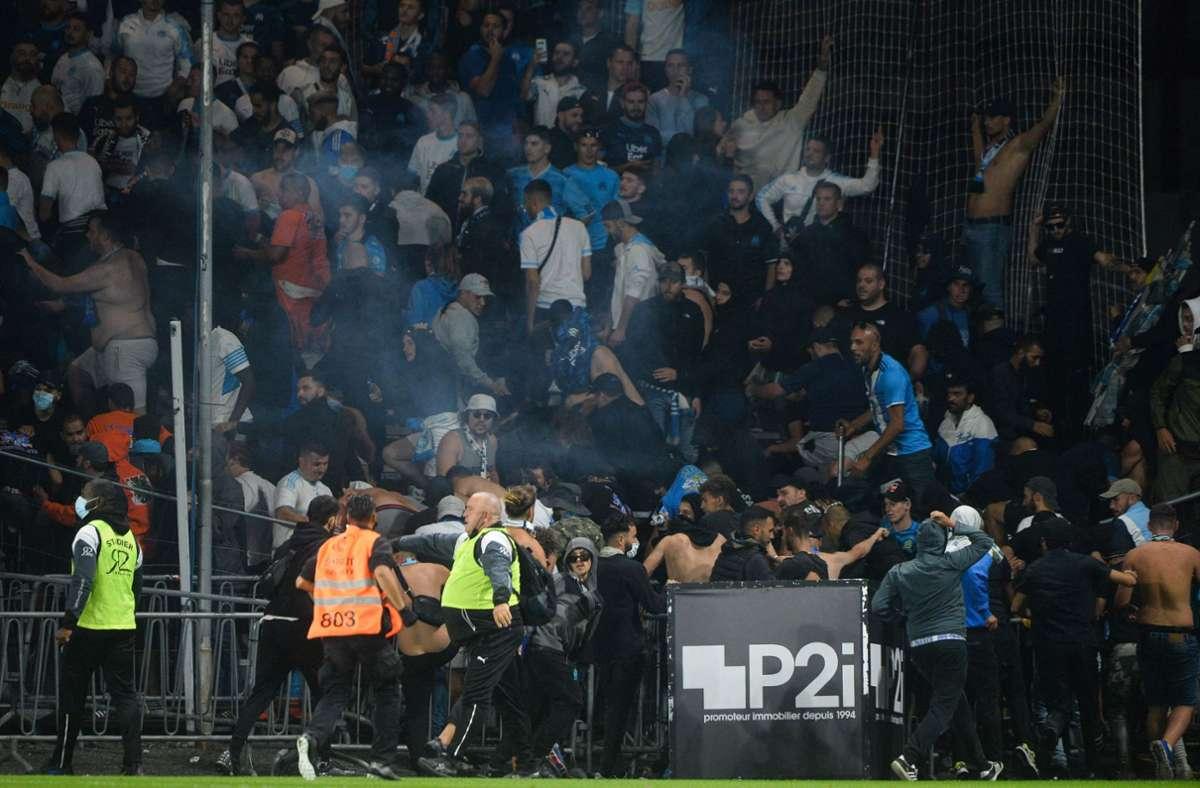 Beunruhigende Szenen in der Ligue 1. Foto: AFP/JEAN-FRANCOIS MONIER