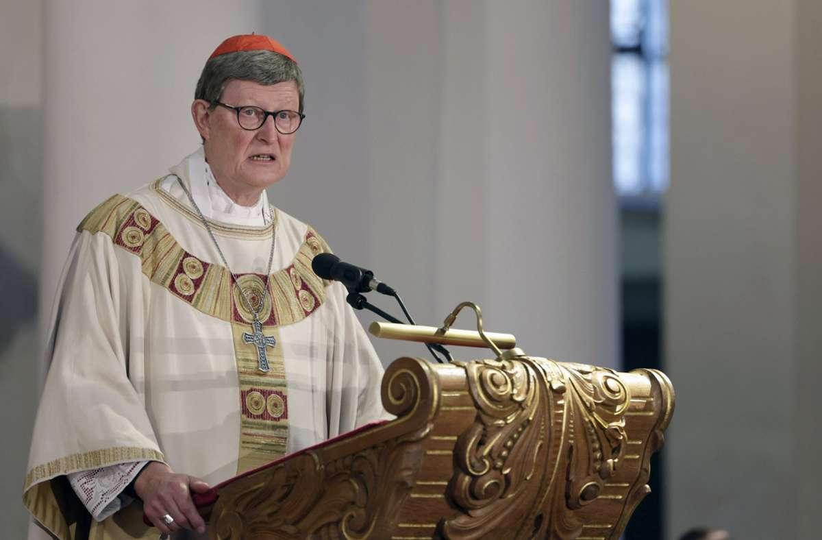 Kölner Kardinal Rainer Maria Woelki bei einem Gedächtnisgottesdienst Foto: imago images/Future Image/Peter Back