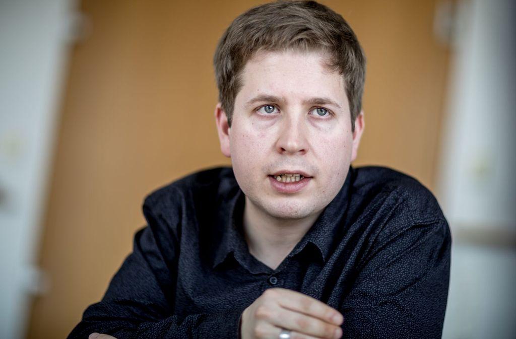 Juso-Chef Kevin Kühnert wird Hauptakteur einer Facebook-Kampagne. Foto: dpa