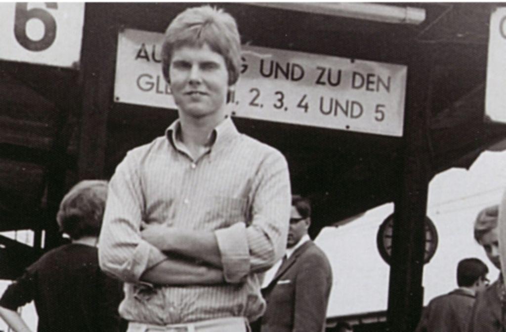 Willy Peter Stoll als 19-Jähriger am Stuttgarter Hauptbahnhof Foto: privat