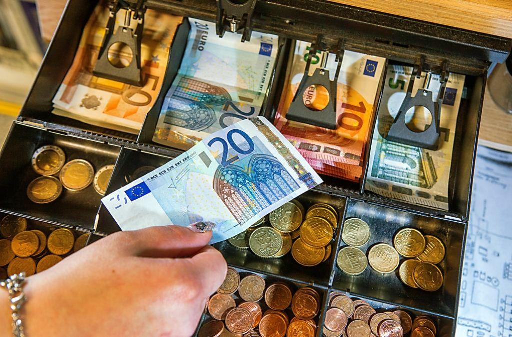 Betriebe sind auch künftig nicht verpflichtet, eine Ladenkasse zu führen. Foto: dpa-Zentralbild