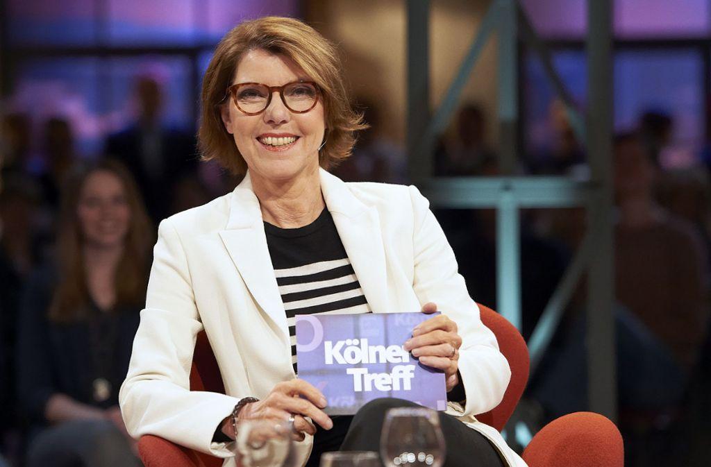 Eines der bekanntesten WDR-Gesichter: die Moderatorin Bettina Böttinger Foto: WDR/Melanie Grande