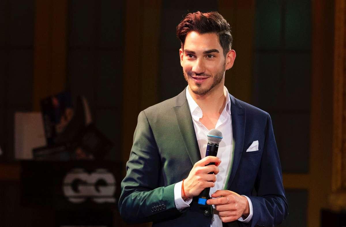 Der Stuttgarter Andrea Portale beim Finale zur Wahl des Gentleman 2021. Foto: Florian Reimann für GQ Germany