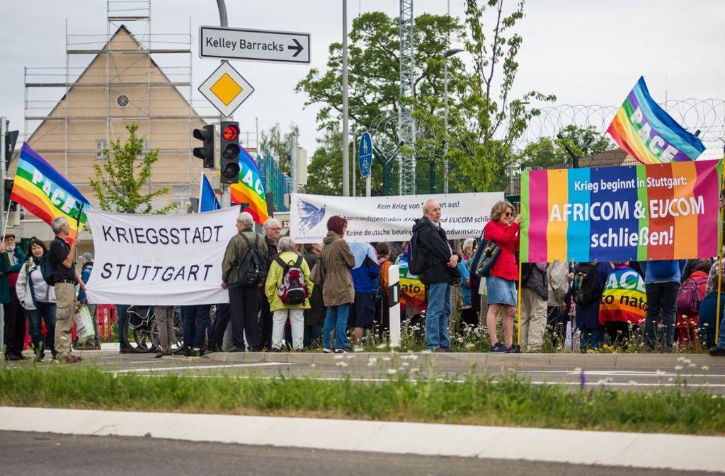 In Stuttgart-Möhringen hat es am Donnerstag eine Demo gegeben. Foto: Lichtgut/Christoph Schmidt