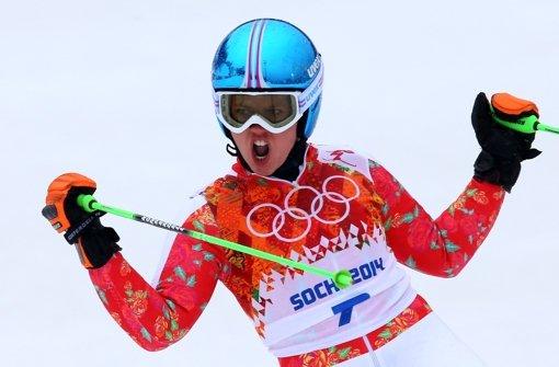 Viktoria Rebensburg fährt zu Bronze