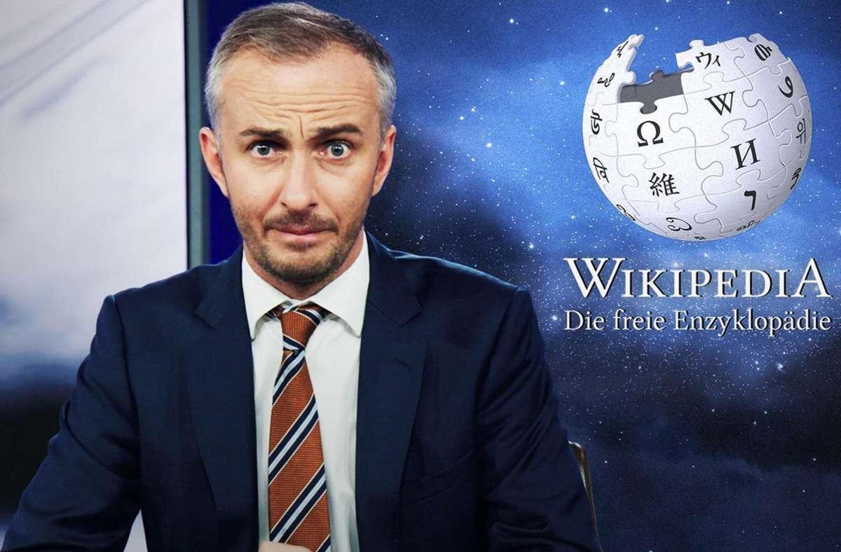Jan Böhmermann fragt sich, wer die Wikipedia manipuliert. Foto: ZDF//Mediathek