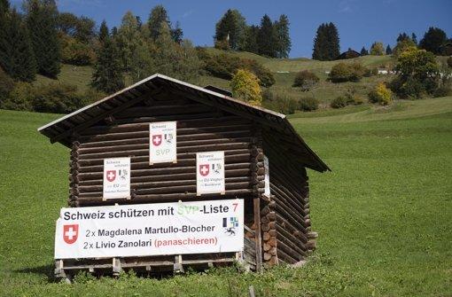 Schweizer Wahl in der Flüchtlingskrise