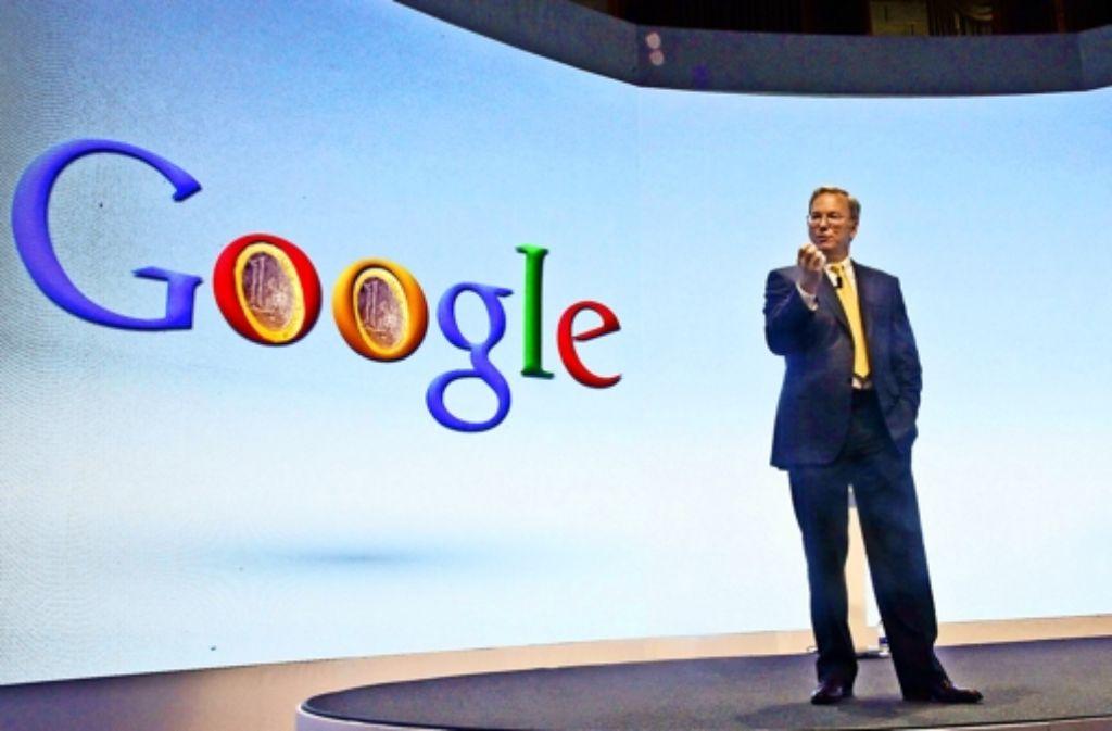Eric Schmidts Versuch, das einträgliche Google-Monopol zu verteidigen, hat Brüssel  nur vorübergehend beeindruckt. Foto: