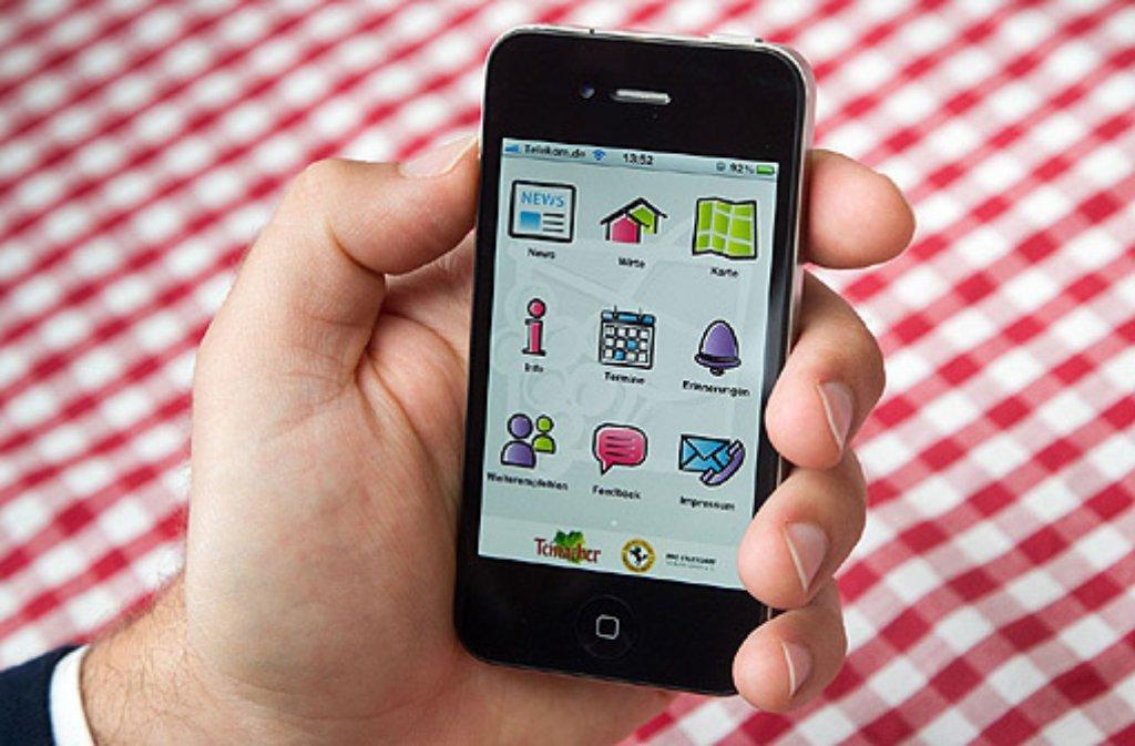 Im Sommer 2011 steigt die 35. Auflage des beliebten Stuttgarter Weindorfes - und zum ersten Mal gibt es zur Veranstaltung auch die passende App fürs iPhone. Für ... Foto: Pro Stuttgart