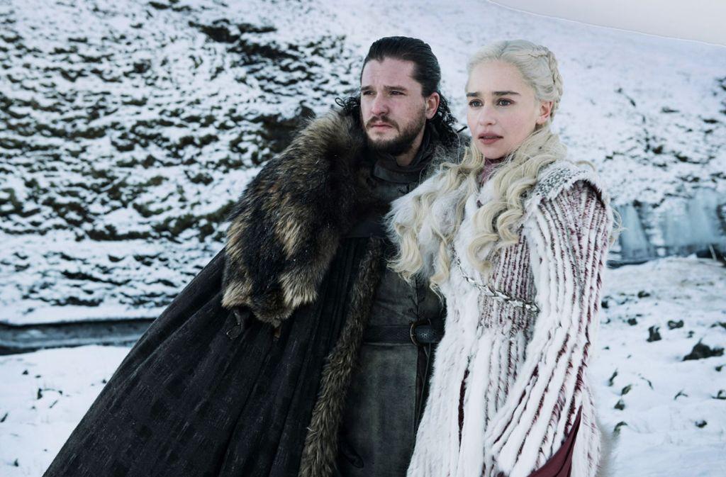 """Nein, wir sind nicht bei """"Bauer sucht Frau"""": Das Glück von Jon Snow (Kit Harington) und Daenerys Targaryen (Emilia Clarke) bleibt sehr gefährdet. Foto: Sky"""