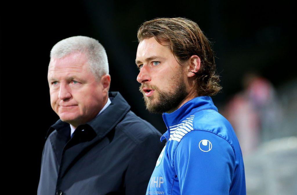 Was nun? Präsident Rainer Lorz (links) und Trainer Tomasz Kaczmarek. Foto: Pressefoto Baumann