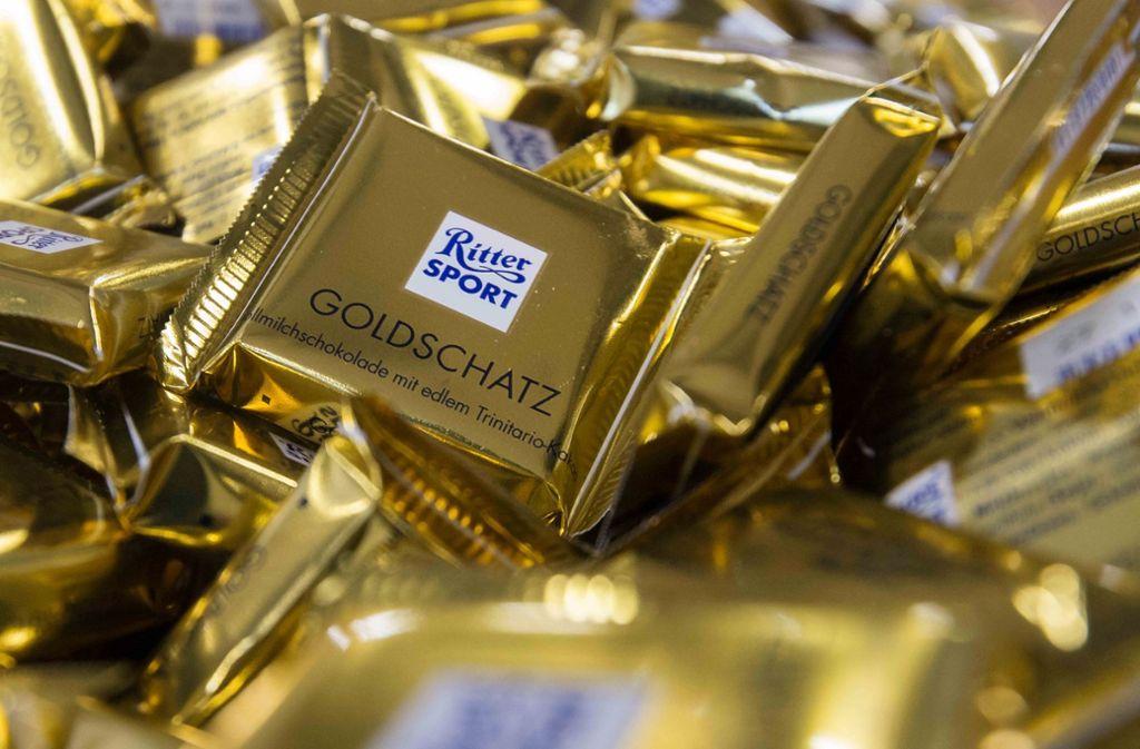 Ritter Sport ist für seine quadratischen Schokoladentafeln bekannt. Foto: dpa