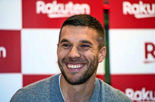 Lukas Podolski – auf dem Pferd nach Köln