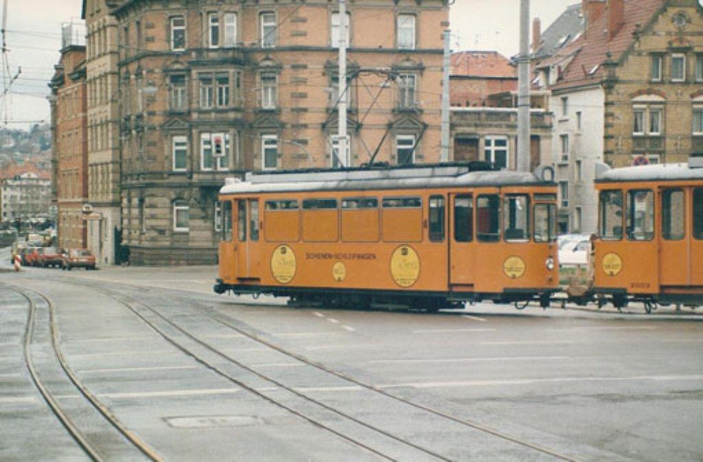 Aufnahme einer historische Straßenbahn in der Böblinger Straße. Foto: Leserfotograf kalanag
