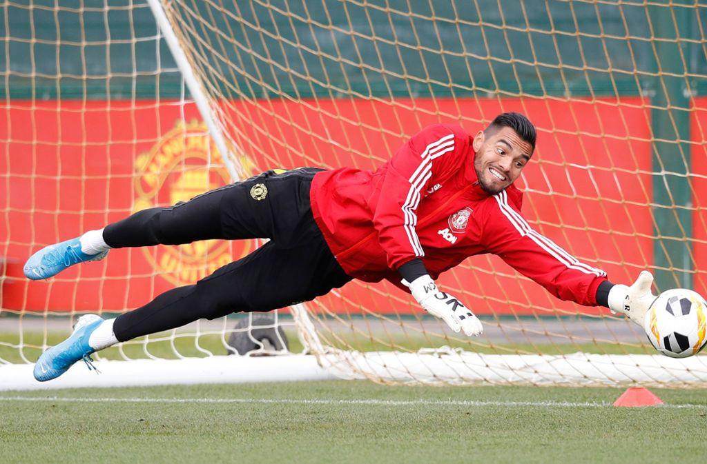 Romero kam in dieser Saison in der Liga für die Red Devils noch nicht zum Einsatz. Foto: dpa/Martin Rickett