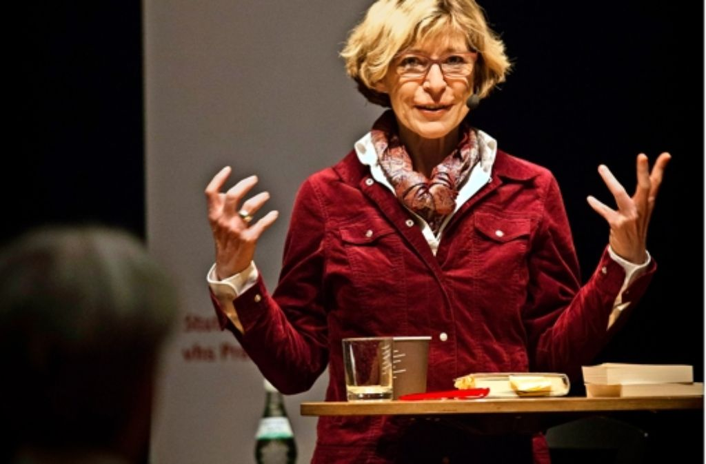 Im Dialog mit den Lesern: die StZ-Redakteurin Hilke Lorenz gab Einblicke in ihr ganz persönliches Familienschicksal. Foto: Lichtgut/Leif Piechowski