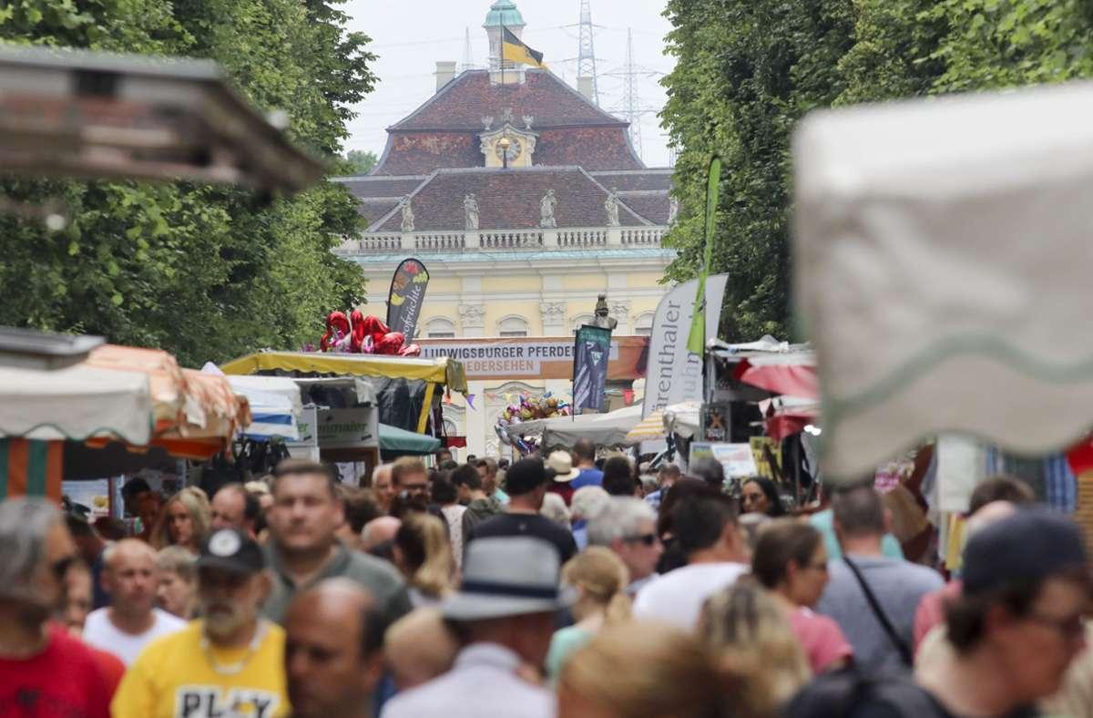 Gut besucht: Der Ludwigsburger Pferdemarkt findet normalerweise im Mai statt. Foto: factum/Weise/Simon Granville/factum