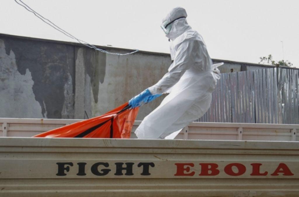Der Kampf gegen Ebola - in Liberia ist er offenbar noch immer nicht gewonnen. Foto: EPA