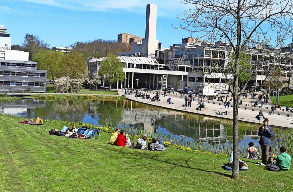 Wird die bauliche Entwicklungsplanung umgesetzt, wird sich auf dem Campus in Vaihingen einiges verändern. Foto: Julia Schuster