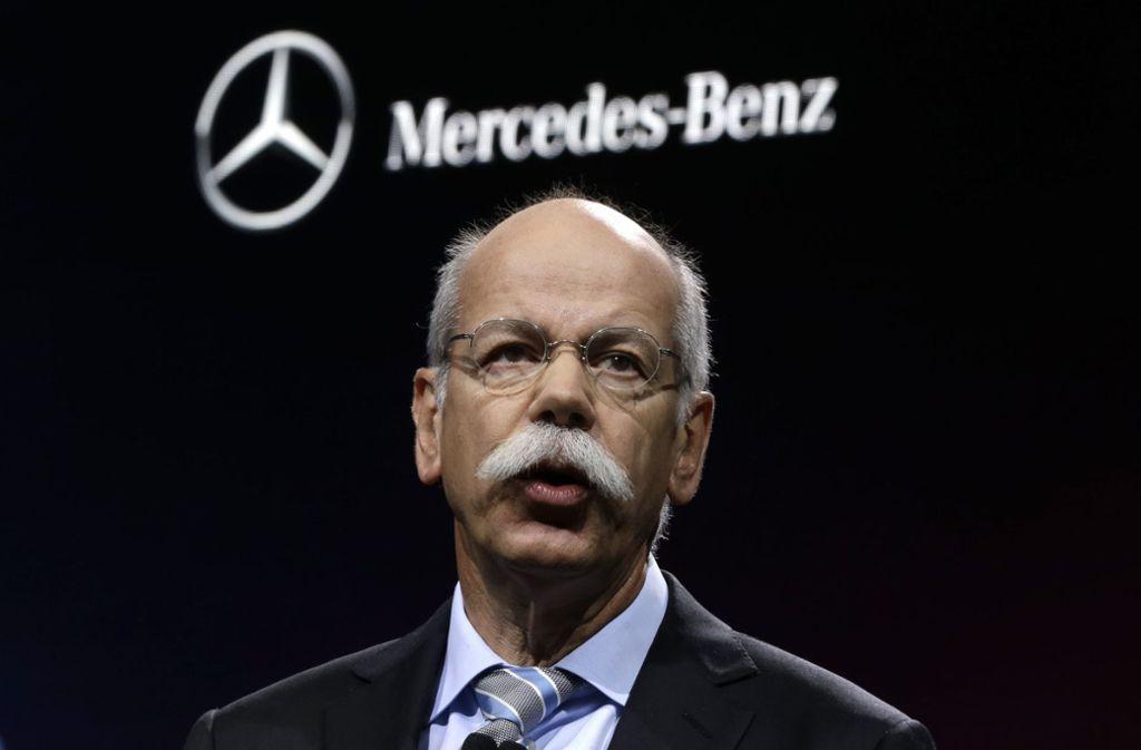 Es läuft derzeit nicht für Vorstandschef Dieter Zetsche und Mercedes-Benz. Foto: AP