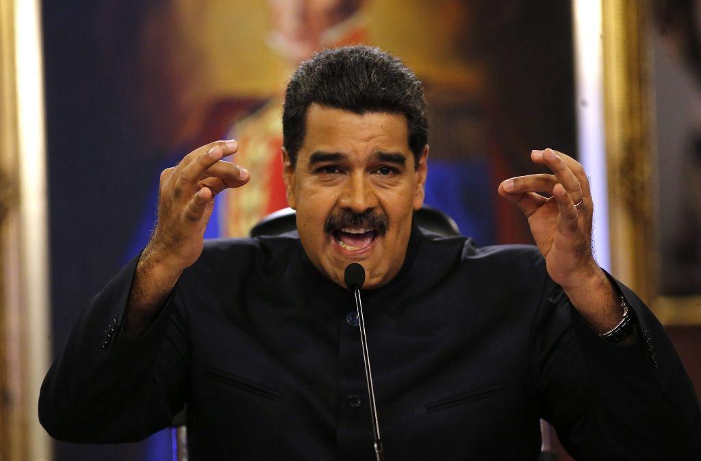 """Venezuelas Präsident Nicolás Maduro nannte den Angriff auf das Höchste Gericht des Landes eine """"Terrorattacke"""". Foto: AP"""