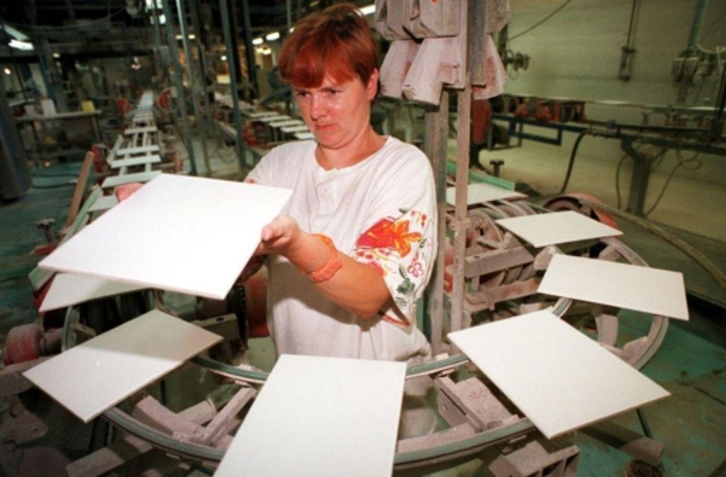 Produkte wie hier Fliesen aus der Ukraine sind kaum wettbewerbsfähig. Foto: Archiv