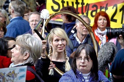 S-21-Demo beim Kirchentag