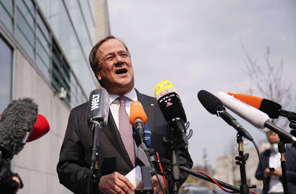 Armin Laschet beruft den CDU-Vorstand zu einer Sondersitzung ein. Foto: dpa/Michael Kappeler