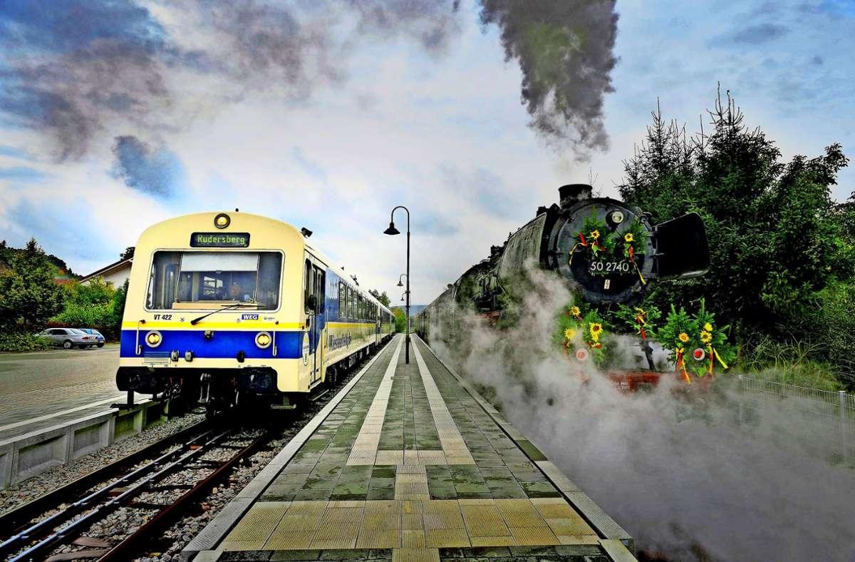 Kohle und Dampf früher, jetzt Diesel – wie die Wieslauftalbahn künftig angetrieben werden soll, wird derzeit geprüft. Foto: Martin Stollberg