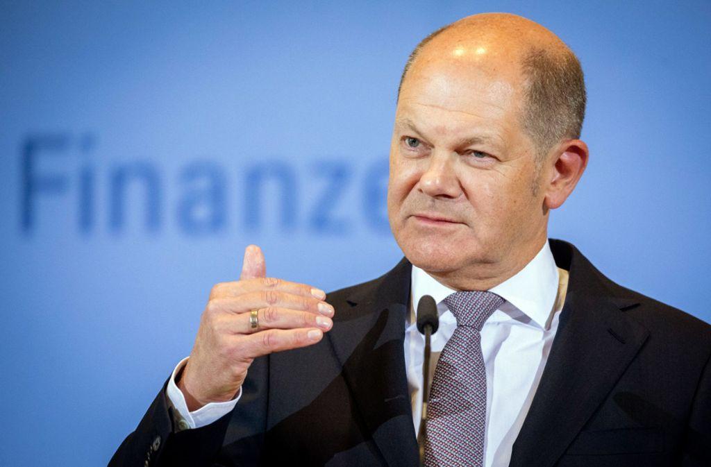 Bundesfinanzminister Olaf Scholz hält an der schwarzen Null im Haushalt fest. Foto: dpa/Kay Nietfeld