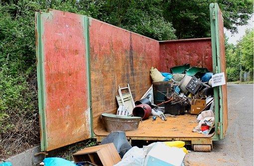 45 Tonnen Müll auf der Wangener Höhe