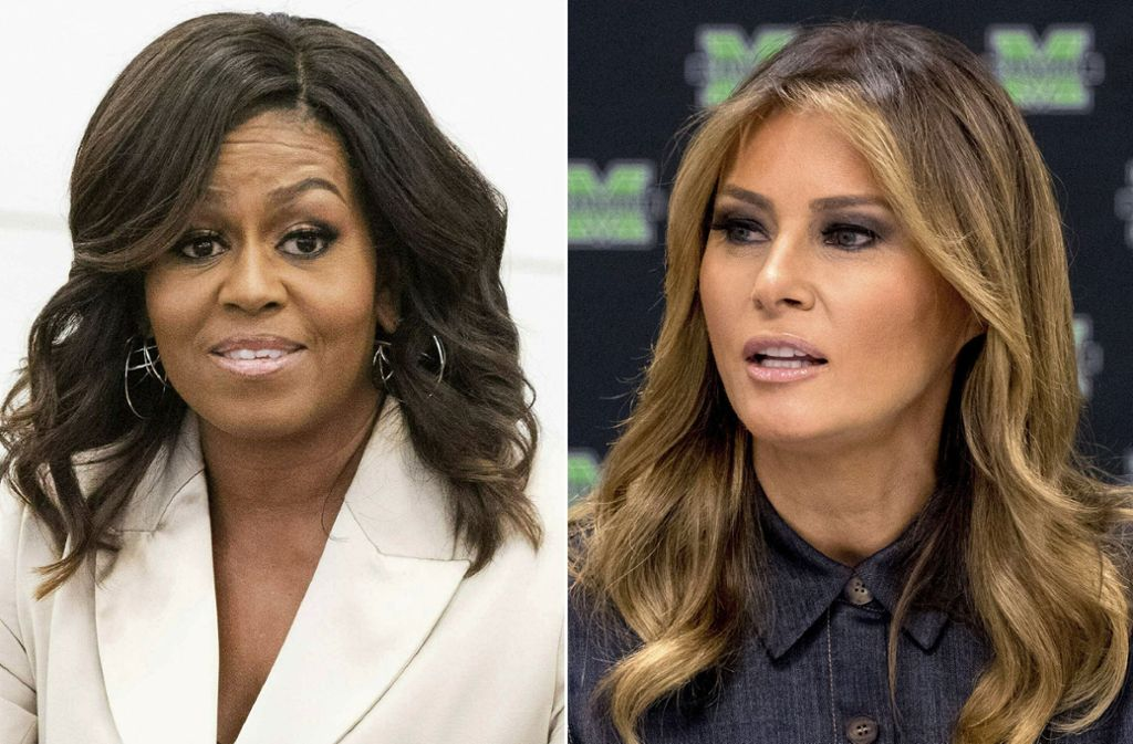 Auch Michelle Obama (li.) und Melania Trump werden von Fox News mit zweierlei Maß gemessen. Foto: AP